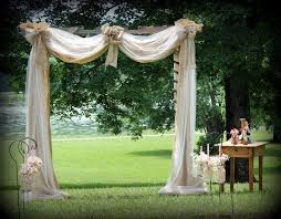 burlap wedding arbor. wedding arbor tulle and burlap Yahoo Image Search Results Here