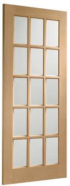 sa77 internal oak door with clear