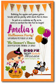 Kids Halloween Costume Party Invitations Halloween Theme Birthday