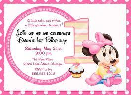 baby mickey mouse invitations birthday baby mickey mouse 1st birthday printable invitations oxyline