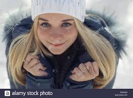 Blonde teen when march