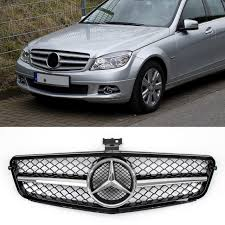 Auto grille for discovery 5 lr5 l462 2017 2018 high quality front racing grill mesh bumper grilles cover grills trims. Gloss Black Chrome Grille For Benz W204 C Class C300 C350 Abs 2008 2014 Mad Hornets
