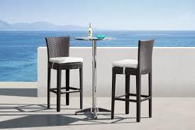 Outdoor3piecebartablesetwoodenbar Stoolwithwhitefabriccushionschairmodernchromebartableroundpub Baroutdoorbartable1jpg