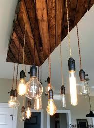 bulb chandelier a overview o craft thyme edison light fixtures custom fixture diy