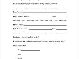 Bill Of Sale Template Alberta Vehicle And Equipment Bill Of Sale ...