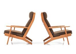 hans j wegner furniture. GE-290 / Pair Of Highback Lounge Chairs In Teak By Hans J. Wegner J Furniture