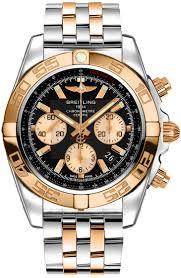 Chronograph Gold Watch Breitling 44 b968 Cb011012 Chronomat Automatic