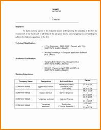 Easy Resume Samples Resuam Sample Iti Weldear Boys Perfect Resume Format 78