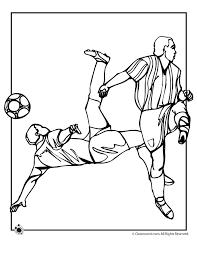 Soccer Coloring Page Woo Jr Kids Activities