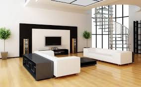 modern apartment living room ideas black. Clean Laminate Floor Decorated With Modern Black And White Apartment Living Room Interior Set Plus Framed Ideas