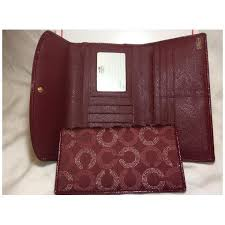 Coach Madison Dotted Op Art Checkbook Wallet for Women