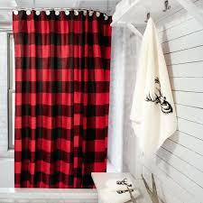 creative plaid shower curtain buffalo check shower curtain decor bathroom chalet blue and white plaid shower