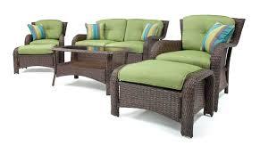 hanover strathmere 6 piece patio seating set allure 4 piece wicker outdoor conversation set hanover strathmere