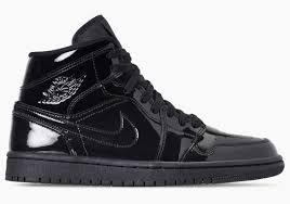 air jordan 1 releases in triple black patent leather
