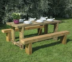 forest 1 8m sleeper bench and refectory table set