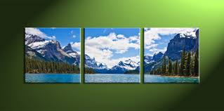 on 3 piece wall art mountains with 3 piece split canvas cherry blossom