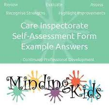Care Inspectorate Self-Assessment Form – Example Answers | Ebay