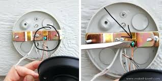 light fixture ground wire install ceiling