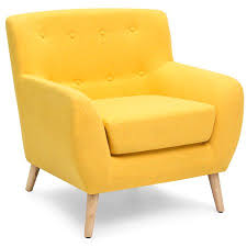 modern yellow chair. Simple Modern Best Choice Products MidCentury Modern Upholstered Tufted Accent Chair  Yellow Throughout Yellow O
