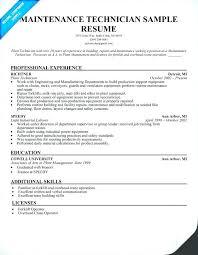 Industrial Maintenance Mechanic Sample Resume Maintenance Tech Resume Industrial Maintenance Tech Resume restama 15