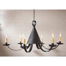 tin lighting. Simple Lighting Weldon Punched Tin 6Light Chandelier With Lighting