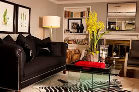 ... Living Room, Contemporary Living Room Contemporary Living Room  Decorating With Black Furniture In The Living ...