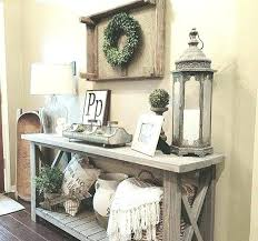 Image Elegant How To Decorate Foyer Table Rustic Entryway Decor Entry Furniture Ideas Design Best Ideas Interior Wood Entry Table Enchanting Rustic Console Tables And Sofa Entryway