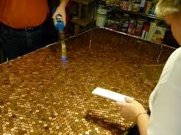 Penny Kitchen Floor Similiar Bar Top Made Of Pennies Keywords
