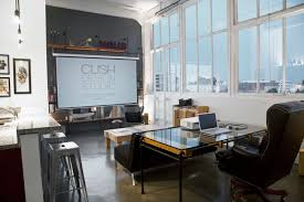 small office spaces cool. Cool Office Buildings. White And Black Themed Home Design With Simple Pipe Desk Small Spaces O