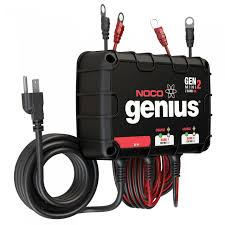 noco 2 bank 8a on board battery charger genm2 using two battery chargers together at 2 Bank Marine Battery Charger Diagram