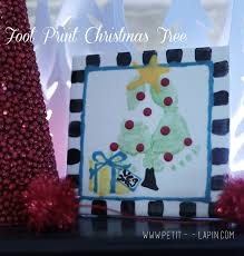 Over 30 Fun Christmas Tree Crafts For Kids  Decoration Child And Christmas Tree Feet Craft