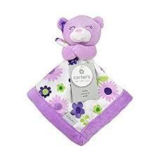 Amazon.com : Carter's Purple Bear Security Blanket with Plush by ... & Carter's Purple Bear Security Blanket with Plush by Triboro Quilt Adamdwight.com