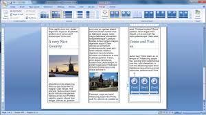 How To Make Your Own Brochure On Microsoft Word Brochures In Word Magdalene Project Org