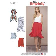 Simplicity Pattern Custom Simplicity Pattern 48H48 Misses Wrap Skirt in Four Lengths