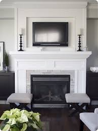 tv inset over fireplace no hearth need more color tho