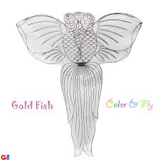 G&z Wholesale Store - Diy-Fish-1 Rayon Plain Gold Fish Kites (By ...