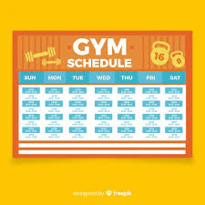 work out schedule templates gym or workout schedule template vector free download