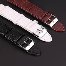 leather watchband men women watch band 20mm 16mm wrist watch belt watchbands bracelet metal buckle watch band pins leather replacement watch bands