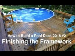 how to build a pool deck in 2018 2
