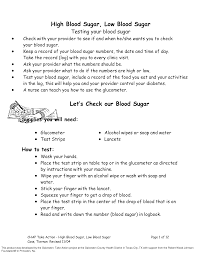 Low Blood Glucose Level Chart Templates At