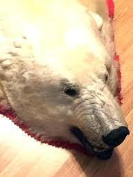 polar bear rug real polar bear rug suppliers and at with head fake white teddy closed