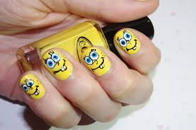 SpongeBob nails. - Nail Lacquer UK