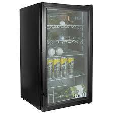 iceq 93 litre under counter glass door