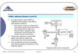 nav topic 6 pa system systems chapter 3 19 20 avionics technology public address