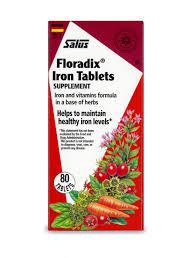 Salus-Haus <b>Floradix Iron Tablets</b>, 10mg, 80 Ct - Walmart.com ...
