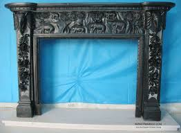 hand carved flower design marble fireplace travertine fire place