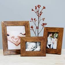 handmade natural wooden photo frame