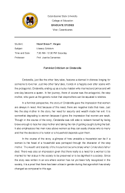 Feminist Criticism On Cinderella Hazel Grace Vargas Academia Edu