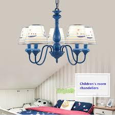 cartoon children s room chandelier boy bedroom blue boat pendant light fixtures