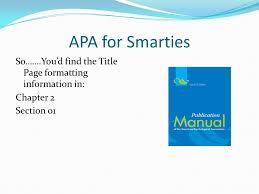 Apa For Smarties Nursing Ppt Video Online Download